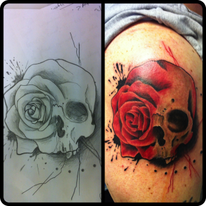 From sketch to tattoo