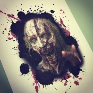 Walking Dead Zombie tattoo design!