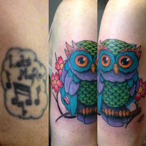 Cover up Owl tattoo